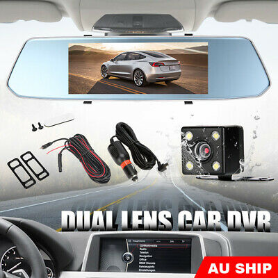 AU80.95 • Buy 7  Dash Camera Front And Rear View Mirror Car Reverse Kits Double Cam FHD 1080P