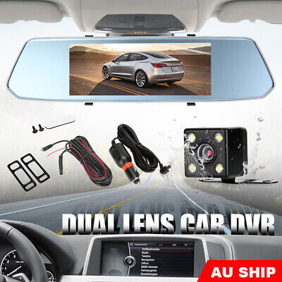 AU75.95 • Buy 7  Dash Camera Front And Rear View Mirror Car Reverse Kits Double Cam FHD 1080P