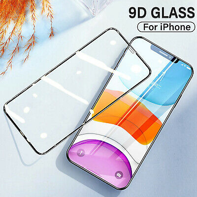 Gorilla Screen Protector For IPhone 12 11 Pro XS Max XR 9D Full Tempered Glass • 4.38£