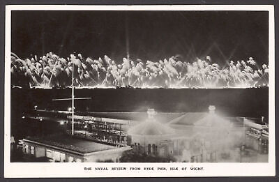 £10 • Buy Royal Navy RPPC. Fireworks At Coronation Fleet Review 1953, From Ryde Pier, IOW