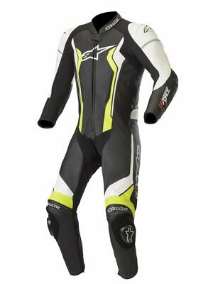 $868.88 • Buy Alpinestars GP Force Leather 1PC Sports Motorcycle Track Race Suit - Black/Fluo
