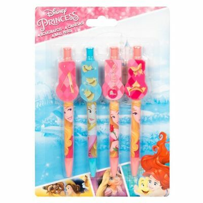 X2 Packs Childrens 4 Branded Character Clip On Pens Disney Princess Gift  • 4.49£