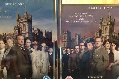 DOWNTOWN ABBEY (SERIES ONE+TWO) On SEVEN DVDs (REGION 2+4+5) • 5.57£