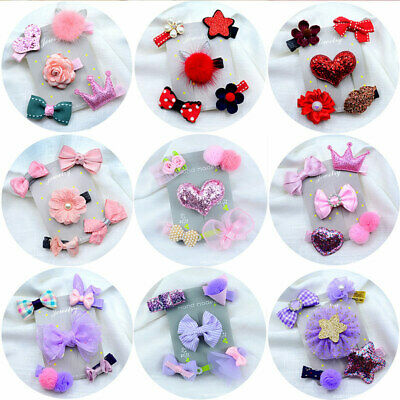 $0.99 • Buy Cute Girl Hair Clip Bowknot Baby 5PCS/Lot Lovely Hairpin For Kids Infant Popular