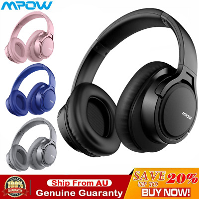 AU53.19 • Buy Mpow Bluetooth Wireless Headphones Over Ear Headset Earphones Noise Cancelling