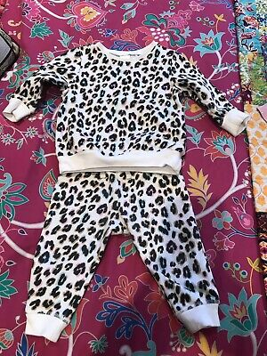 Next Baby Girl Animal Print Track Suit 6-9 Months  • 20£