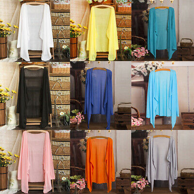 AU16.05 • Buy New Womens Long Thin Casual Solid Cardigan Modal Sun Protection Clothing Tops