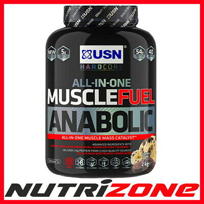 USN MUSCLE FUEL ANABOLIC All In One Mass Gainer Protein Wit BCAA HMB Creatine • 29.90£