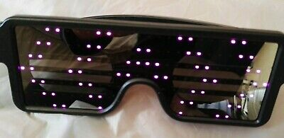 LED Glasses Light Up Flashing Sunglasses Eye Wear Nightclub Party  ( Purple  ) • 9.99£