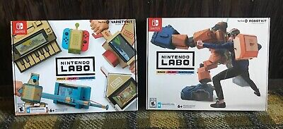 $48.95 • Buy Labo Toy-Con 01 Variety Kit And 02 Robo Kit (Nintendo Switch, 2018) Lot