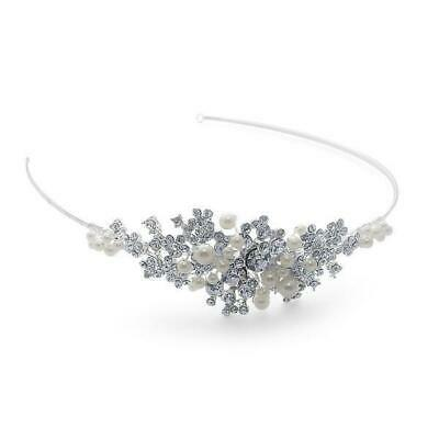 Bnwt Bridal Stock Starlet Betsy Side Tiara Freshwater Pearl Diamante Boxed • 39.99£
