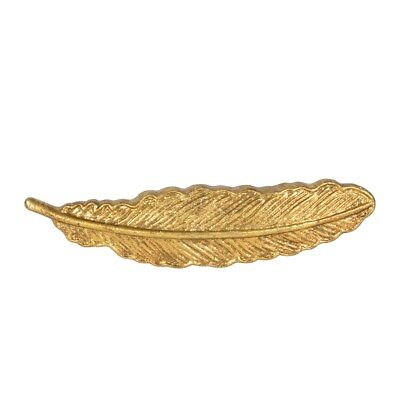 Sass & Belle Metal Golden Feather Vintage Cupboard Drawer Pull Door Handle Knobs • 6.99£