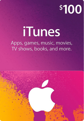 AU130.48 • Buy $100 USD ITunes Prepaid Card - 100 US Dollar Apple Store