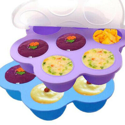 $14.09 • Buy 7 Holes Silicone Egg Bites Mold For Baby Food Pot Organier  Accessories With Lid