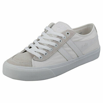 Gola Quota 2 Womens White White Leather & Textile Casual Trainers • 24.99£