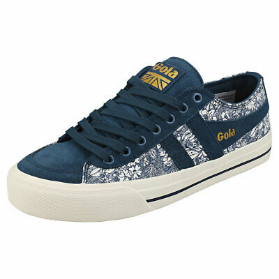 Gola Quota 2 Liberty Womens Ink Multicolour Suede & Textile Fashion Trainers • 29.99£