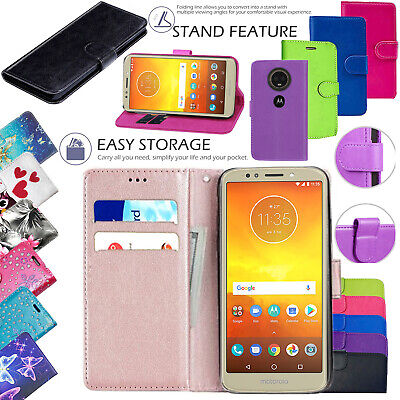 For Motorola Moto E6 E6 PLUS G7 Power G6 Play Leather Wallet Phone Case Cover • 4.99£