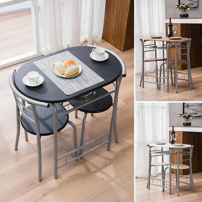 3pc Small Dining Table And 2 Chairs Home Kitchen Metal Breakfast Dinner Room Set • 95.89$