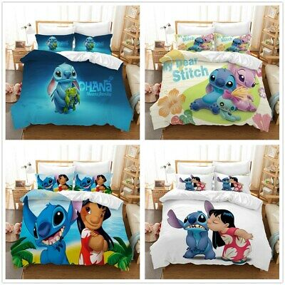 $59.99 • Buy 3D Disney Anime Stitch And Lilo Bedding Set Duvet Cover Pillowcase Quilt Cover