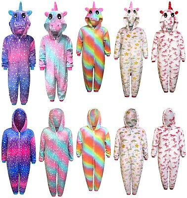 AU30.25 • Buy Kids Unicorn 1Onesie Girls Pyjamas Boys Sleepsuit Gifts For Children Animal
