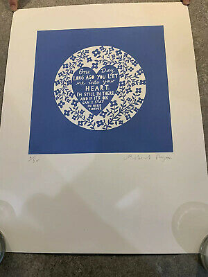 Rob Ryan One Day Long Ago You Let Me Into Your Heart Screen Print Signed • 174.99£