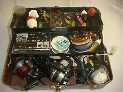 $ CDN59.99 • Buy Vintage Excelsior Tackle Box With Reels, Lures, Flies, Wooden Bobbers & More