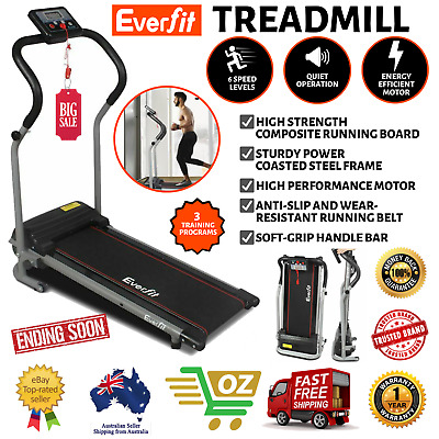 AU249 • Buy Electric Treadmill Fitness Home Exercise Machine Workout Walking Running Black