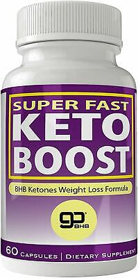 SUPER FAST KETO BOOST Burning Fat And Overall Weight Loss Natural BHB Ketogenic • 34.95$