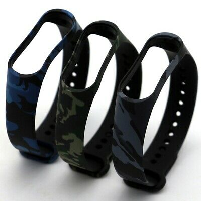 $4.99 • Buy For Xiaomi MI Band 4 3 Strap Military Bracelet Silicone Wristband Camo Band