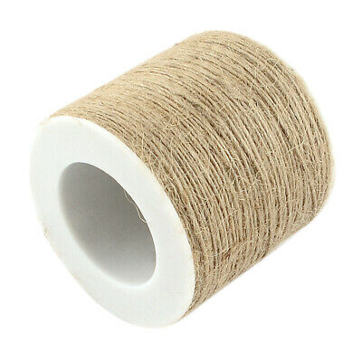 100m Jute Twine Rope For Gifts Packing Wrapping WineBottle Winding DIY Craft • 4.46£