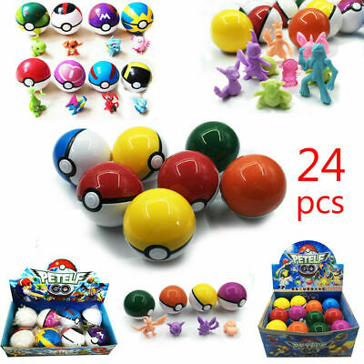 5-7cm 8-24Pcs Pokeball Ball Set Action Figures Boxed Kids Christmas Toy Gift • 9.07£