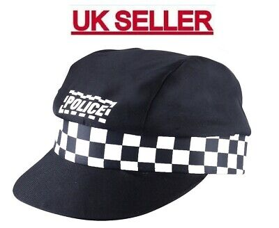 £1.98 • Buy Adult Unisex Policeman Cap Police Costume Accessory Cop Hat For Fancy Dress