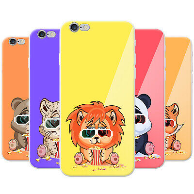 Azzumo Animals Wearing Glasses Eat Popcorn Soft Thin Case Cover For The IPhone • 3.99£