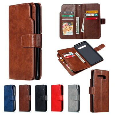 $ CDN12.96 • Buy For Samsung Galaxy S9 S10 Plus Flip Leather Wallet Card Holder Stand Case Cover