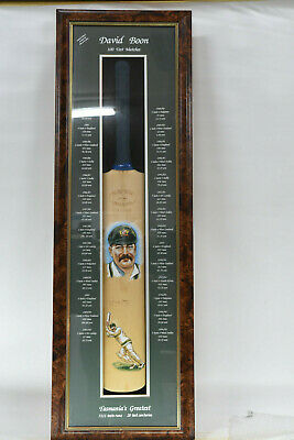AU499.95 • Buy David Boon 100 Test Matches Signed Cricket Bat With Painted Potraits - Boonie