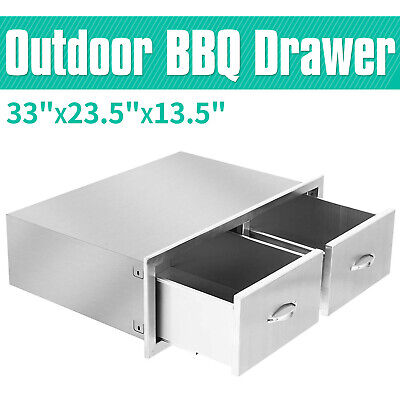 $159.90 • Buy 1-Tier Outdoor Kitchen BBQ Island Access Drawer Set W/ Handle Stainless Steel