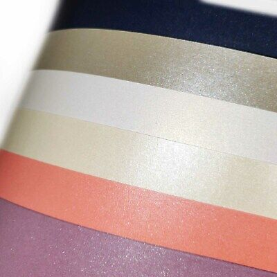 120gsm Pearlised Writing Paper Crafts Metallic Single Sided Card Pearl Shiny  • 2.99£