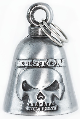 $9.99 • Buy Kustom Cycle Parts Gun Metal Skull Motorcycle 'Evil Spirits' Biker Guard Bell.