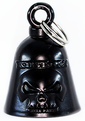 $11.99 • Buy Kustom Cycle Parts Gloss Black Skull Motorcycle 'Evil Spirits' Biker Guard Bell.