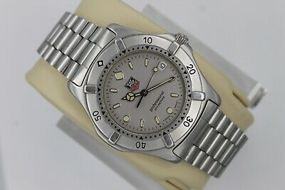Tag Heuer WE1111.BA0300 Professional 2000 SS Watch Mens Gray Silver Mint 962.206 • 400$