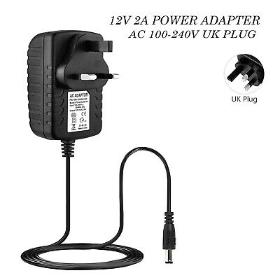 £6.99 • Buy 12V 2A AC/DC UK Power Supply Adapter Safety Charger For LED Strip CCTV Camera