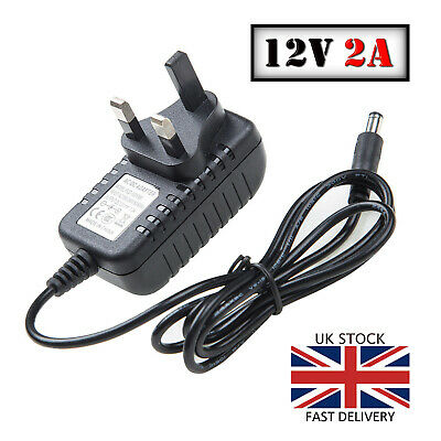 PSU 2A 12V DC Power Supply Adapter Charger For CCTV Camera LED Strip UK Plug • 6.75£