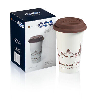 Cup From Milk Ceramics For Cappuccino Coffee Glass Decorated Thermal Colourful • 26.93£
