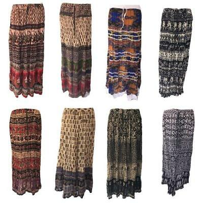 Gypsy Skirt Long Skirt Indian Party Maxi Boho Hippy Cotton Festival 8 10 12 • 11.55£