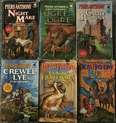 Piers Anthony, Xanth Novels, Lot Of 6 Books • 9.50$