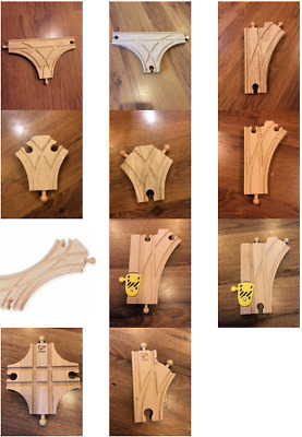 £2.75 • Buy Wooden Train Track Junctions - Brio, Bigjigs, Hape & Other (postage Offer)