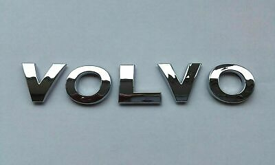 £6.99 • Buy Chrome 3D Car Letters Self-adhesive Boot Badge Emblem Sticker Spelling VOLVO