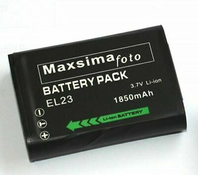 Maxsimafoto - Compatible Lithium Ion Battery ENEL23, EN-EL23 For NIKON P900 P610 • 11.99£