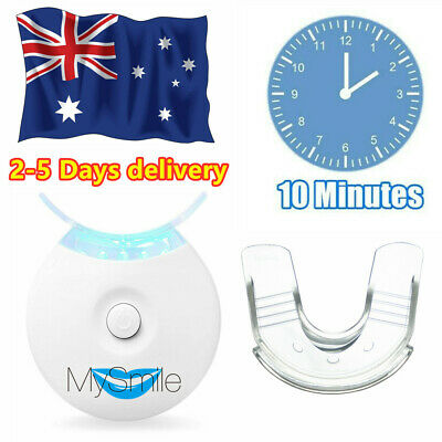 AU19.99 • Buy MySmile 5LED Teeth Whitening Light Accelerator F/Strips Home Kit With Mouth Tray