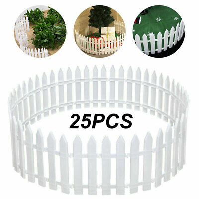 £13.15 • Buy 25PCS Picket Fence Garden Fencing Lawn Edging Home Yard Christmas Tree Fence UK
